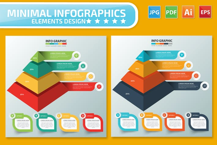 Thumbnail for Pyramid Infographics design