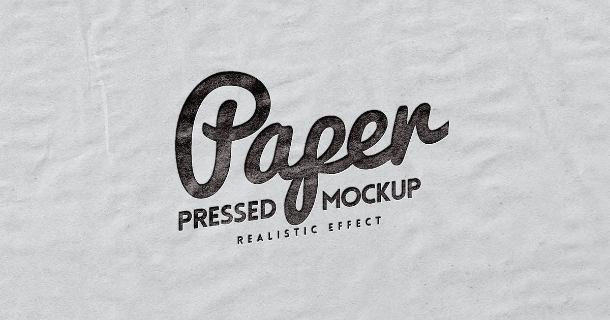 Download Logo Mockup Paper Pressed by Easybrandz-AvelinaStudio