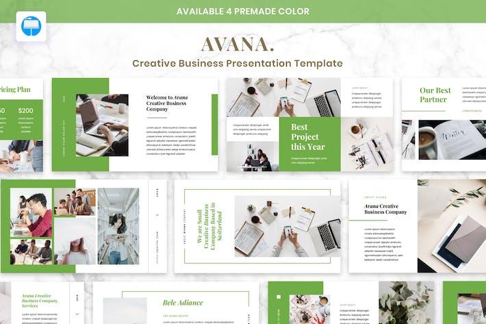 Thumbnail for AVANA - Creative Business Presentation Keynote