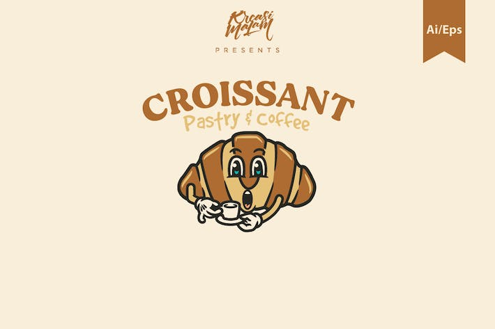 Thumbnail for Croissant Logo Template