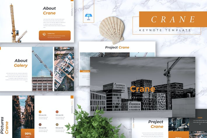 Thumbnail for CRANE - Construction Keynote Template