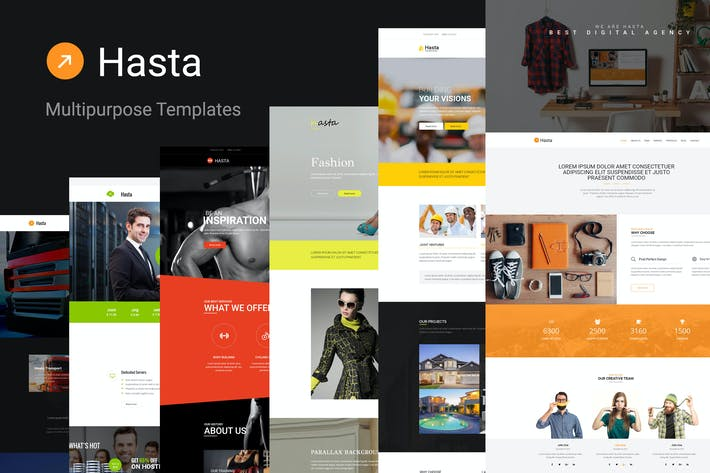 Cover Image For Hasta - Responsive Multipurpose HTML5 Template