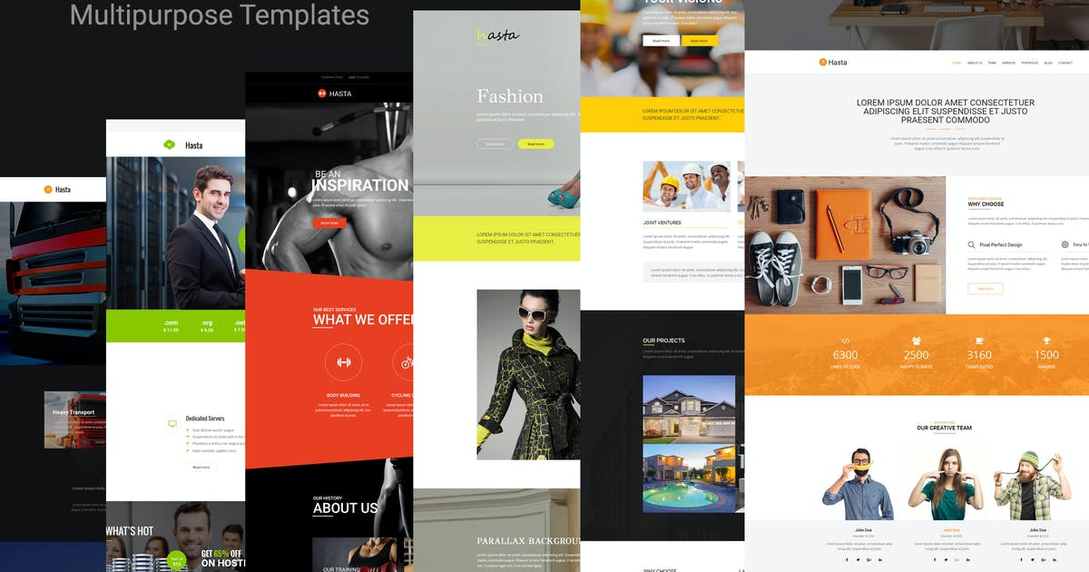 Download Hasta - Responsive Multipurpose HTML5 Template by codelayers