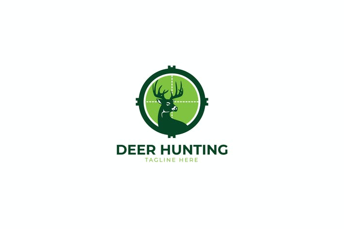 Thumbnail for Deer Hunt Logo Template