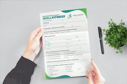 Fitness-Bewertungsformular