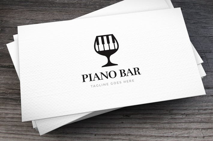 Piano Bar Logo Template