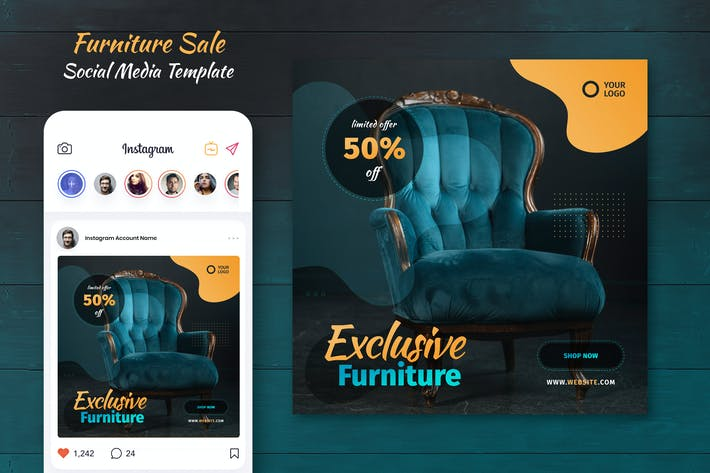 Thumbnail for Furniture Sale Social Media Template