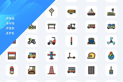 50 Transportation Icons