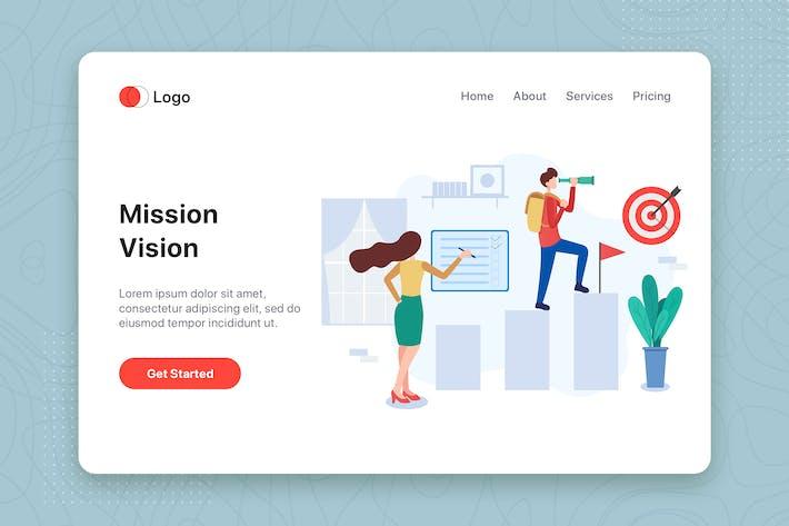 Thumbnail for Mission & Vision flat illustration concept