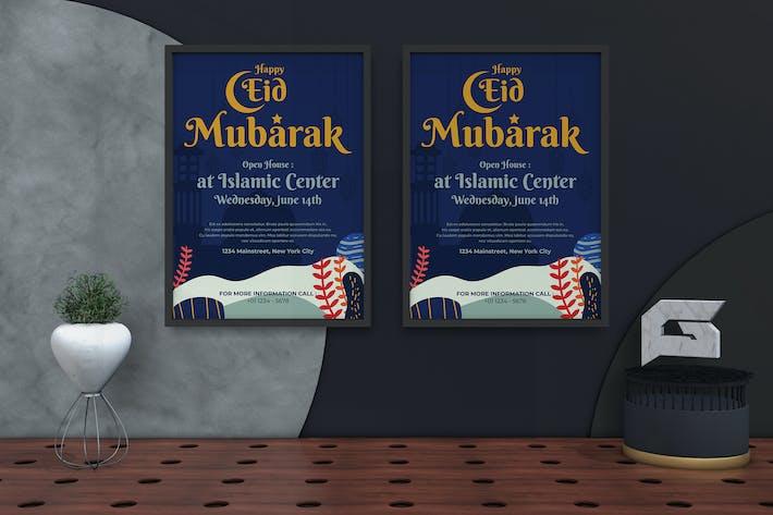 Thumbnail for Eid Mubarak Flyer & Poster Template