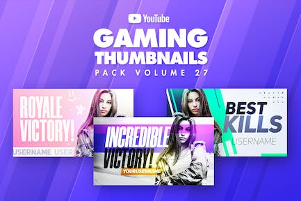 Gaming Youtube Thumbnails Pack 27