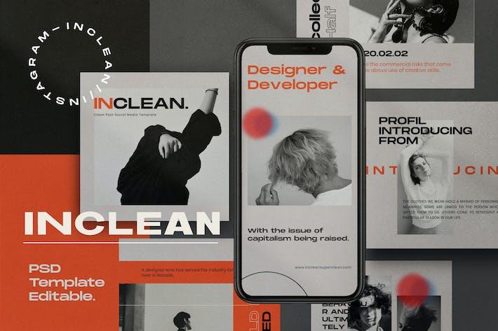 Thumbnail for INCLEAN - Social Media Kit Post & Stories  PACK 1