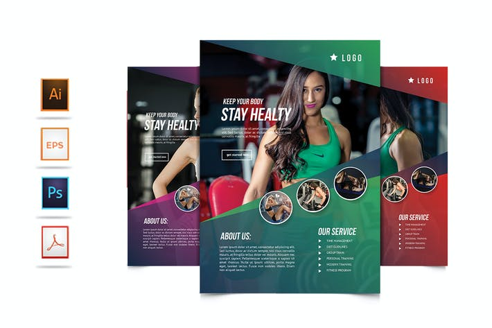 Thumbnail for Fitness Flyer Template - [code YP]
