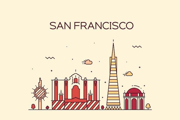 Thumbnail for San Francisco skyline, United States