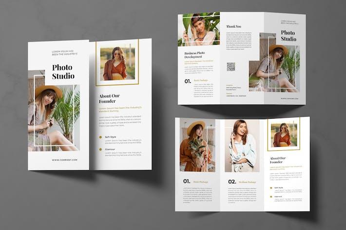 Photo Studio Trifold Brochure