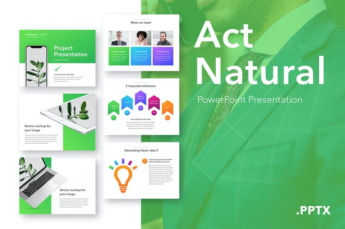 Act Natural PowerPoint Template