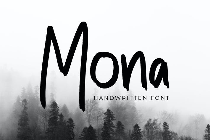 Thumbnail for Mona Modern Handwritten Font
