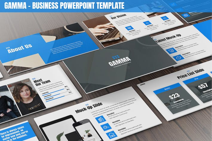 Thumbnail for Gamma - Business Powerpoint Template