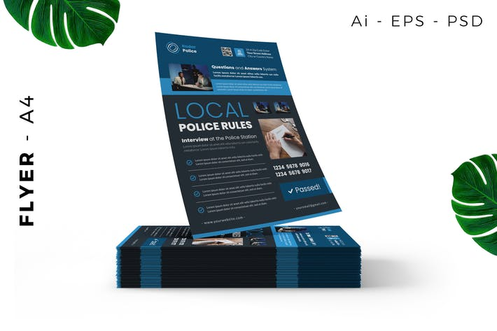 Thumbnail for Police Public Service Flyer Design