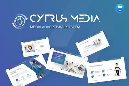 Cytrus - Media Advertising System Keynote Template