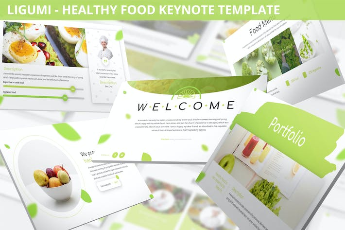 Thumbnail for Ligumi - Healthy Food Keynote Template