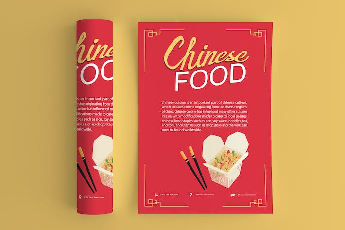 Thumbnail for Chinese Food Flyer