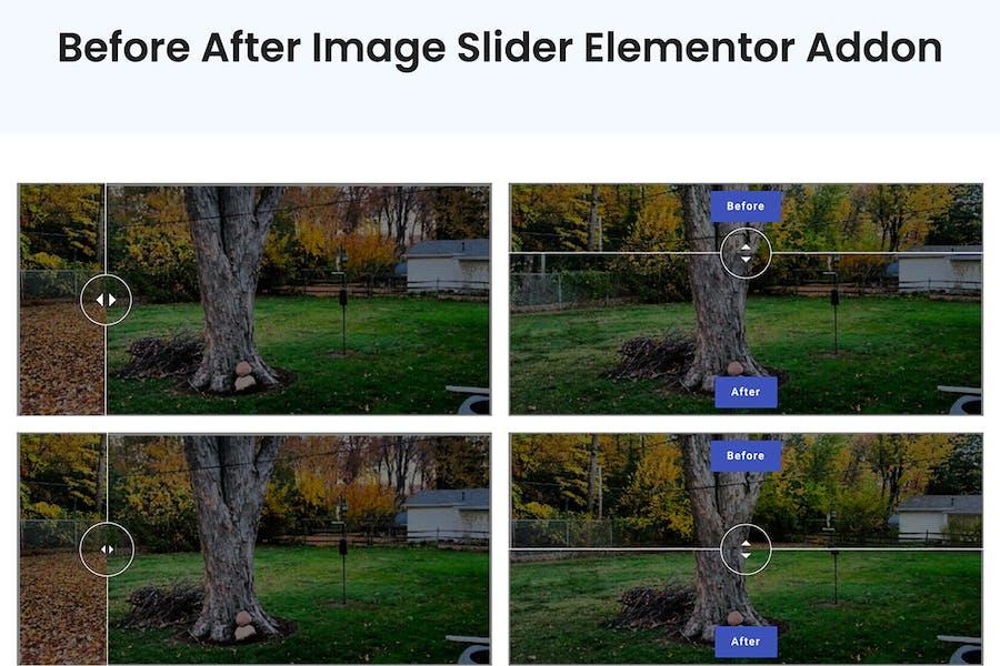 Before After Image Slider Elementor Addon