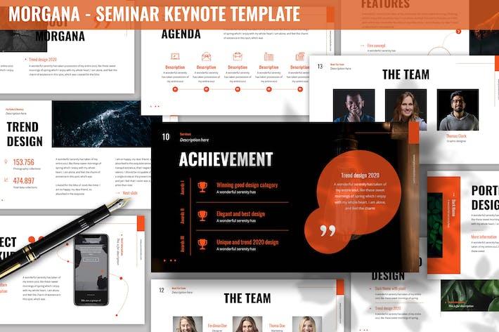 Thumbnail for Morgana - Seminar Keynote Template