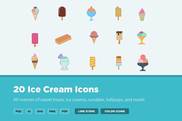 Thumbnail for 20 Eiscreme-SIcons