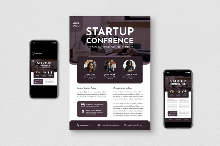 Thumbnail for Startup Conference Flyer Set