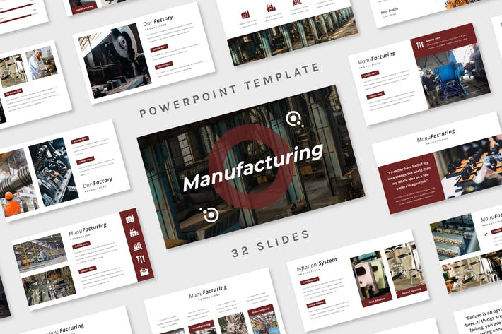 Thumbnail for Manufacturing - Powerpoint Template