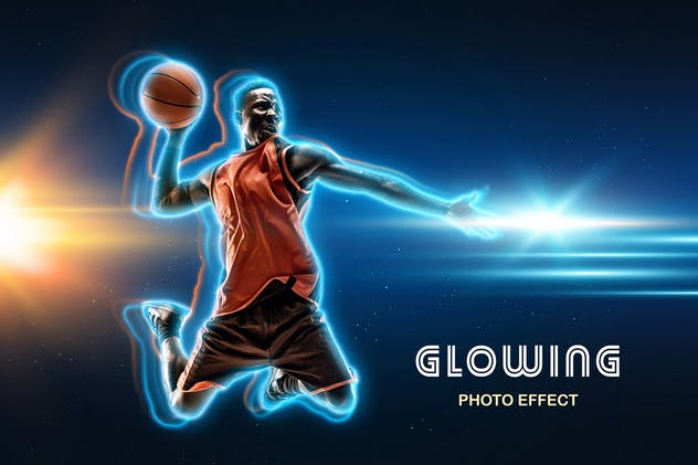 Glowing Outline Photo Effect
