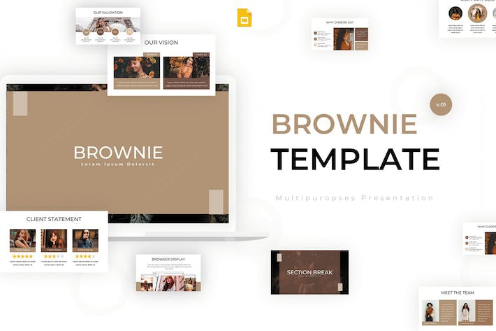 Thumbnail for Brownie - Google Slides Template