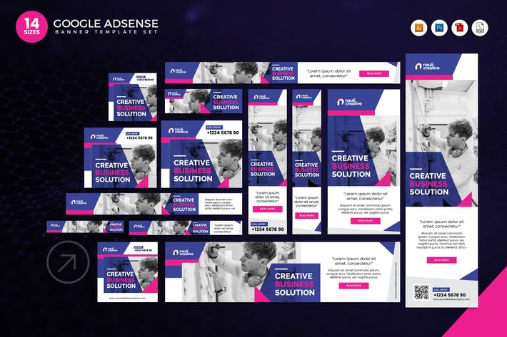 Thumbnail for 14 Creative Business Google Adsense Banner