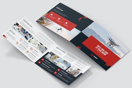 Brochure – Drone Service Bi-Fold A5 Landscape