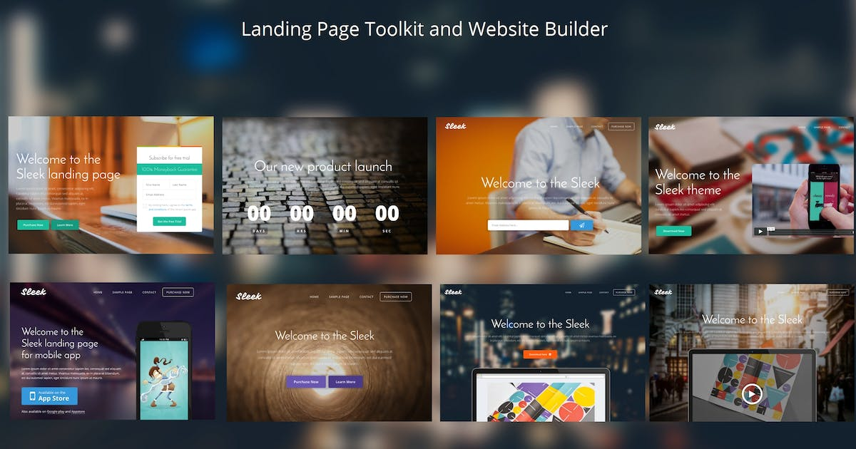Download Sleek with Mobirise Bootstrap Page Builder by Theme-Express