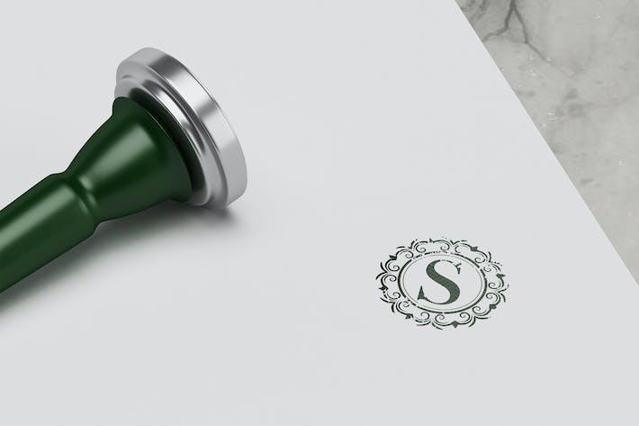 Thumbnail for Luxury Stamp Logo Mockup