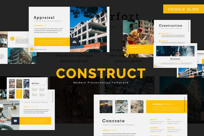 Thumbnail for Construction - Google Slides Template