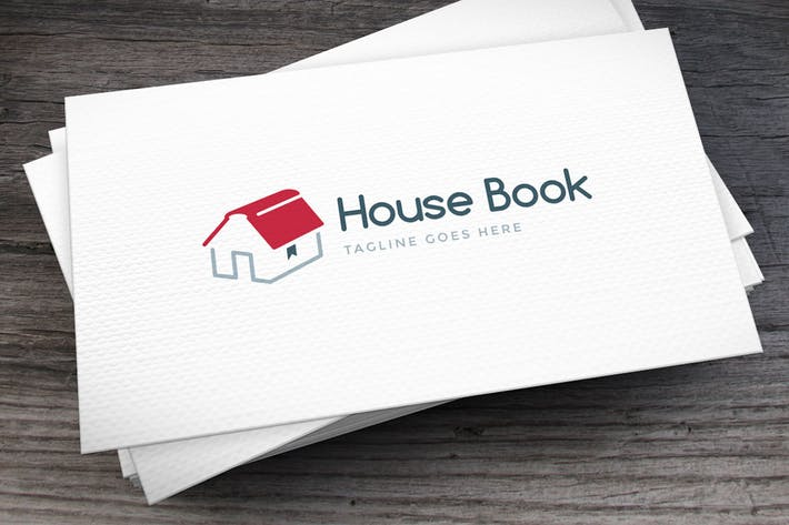 Cover Image For House Book Logo Template