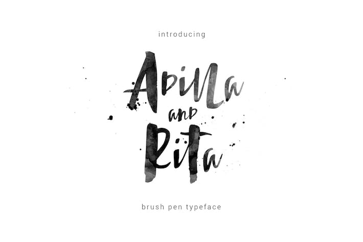 Thumbnail for Adilla and Rita Typeface