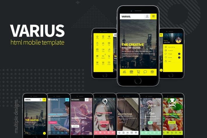 Thumbnail for Varius - HTML Mobile Template