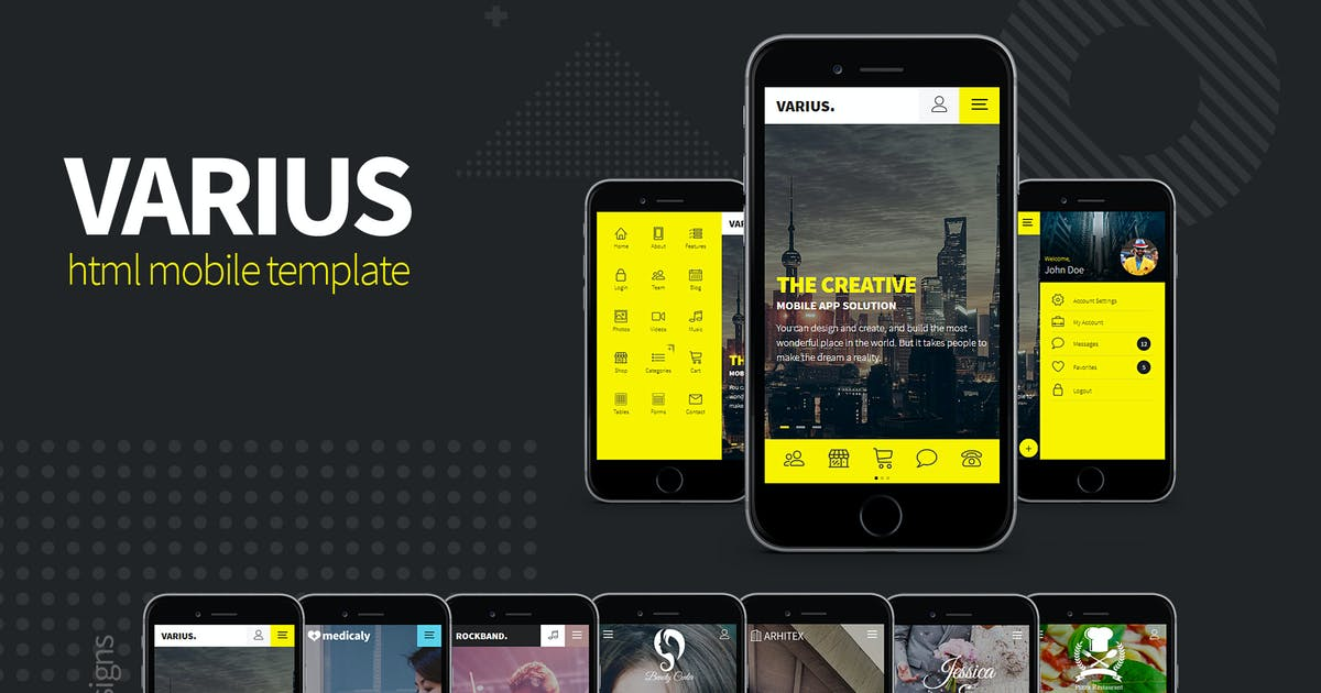 Download Varius - HTML Mobile Template by sindevo