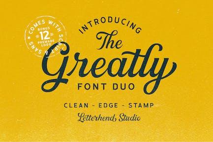 Plantillas de Logo de gran tamaño Font Duo +
