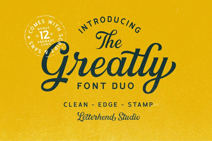 Thumbnail for Greatly Font Duo + Logo Templates