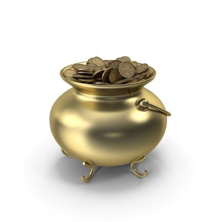 Pot Gold mit Münzen