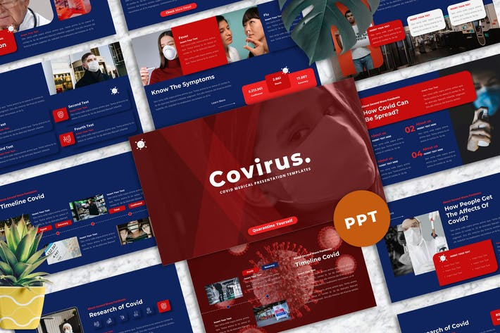Covirus - Covid Medical  Powerpoint Template