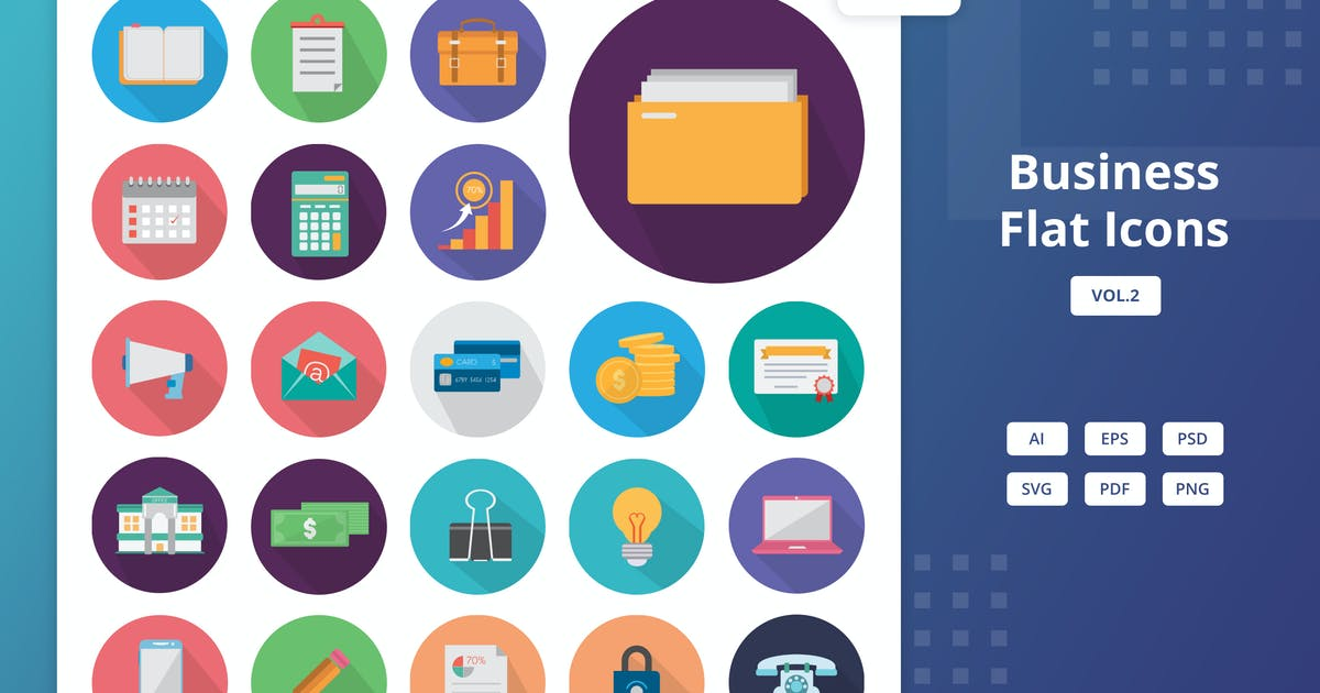 Download Business - Flat Icons Vol.2 by Graphiqa