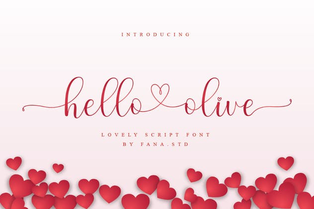Hello Olive - Script Font - product preview 0