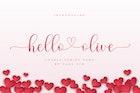 Hello Olive - Script Font