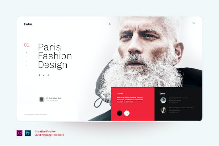 Thumbnail for Fabu - Fashion landing page template